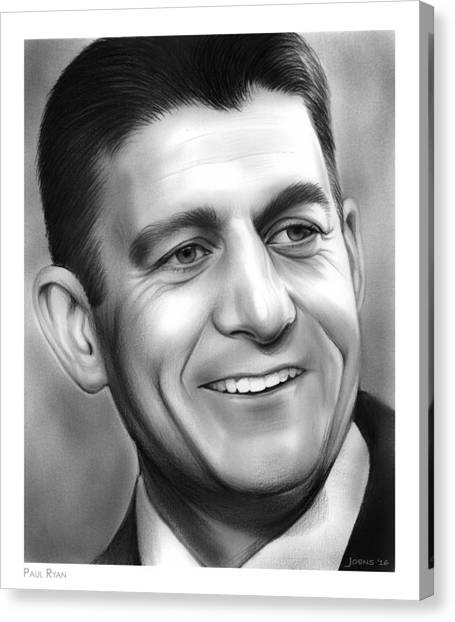 Republican Politicians Canvas Print - Paul Ryan by Greg Joens