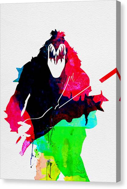 Rock Music Canvas Print - Paul Watercolor by Naxart Studio