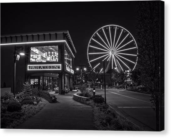 Paula Deen's At Night In Black And White Canvas Print