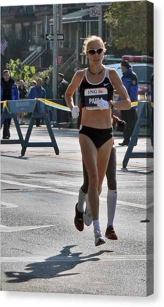 Paula Radcliffe Nyc Marathon Canvas Print