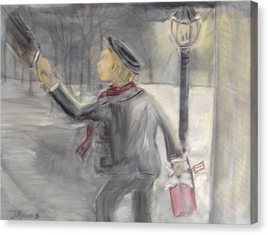 Pauley's Present Canvas Print by Jessica Mason