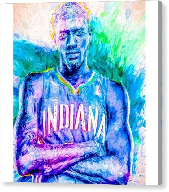 Indiana Pacers Canvas Print - #paulgeorge #indianapacers #pacers by David Haskett