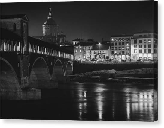 Pavia At Night Canvas Print