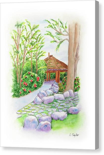 Pavilion Pathway Canvas Print