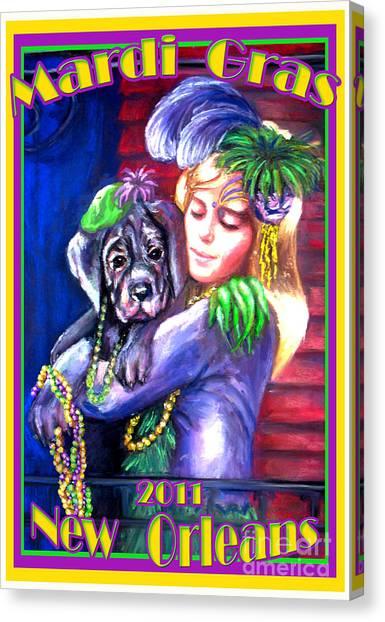 Pawdi Gras Canvas Print