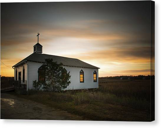 Chapel Canvas Print - Pawleys Chapel Sunset by Ivo Kerssemakers