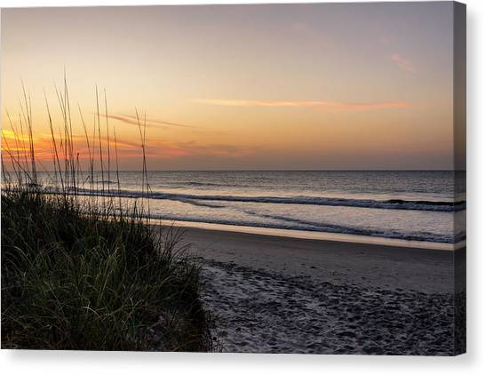 Beach Sunrises Canvas Print - Pawleys Island Beach Sunrise - South Carolina by Brian Harig