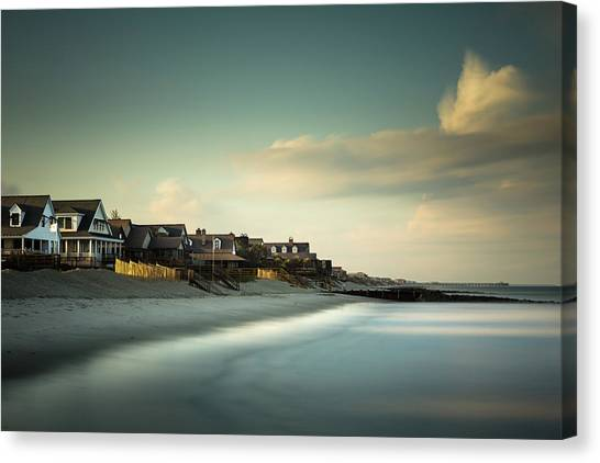 Groin Canvas Print - Pawleys Island, One Hour Till Sunset by Ivo Kerssemakers