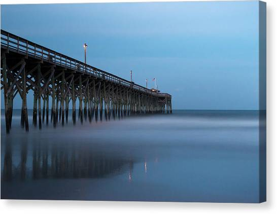 South Carolina Canvas Print - Pawleys Island Pier During The Blue Hour by Ivo Kerssemakers