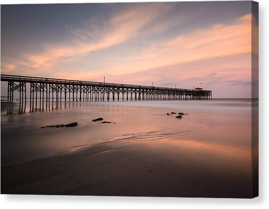 South Carolina Canvas Print - Pawleys Island Pier Sunset by Ivo Kerssemakers