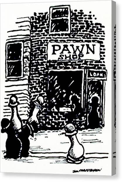 Pawn Shop Canvas Print by James Christiansen