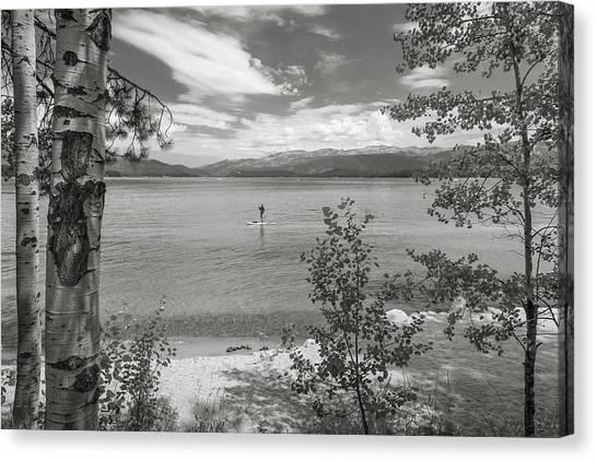 Payette Lake Boarder Canvas Print