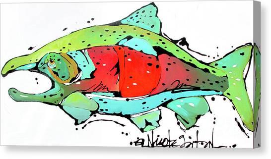 Payne The Salmon Canvas Print