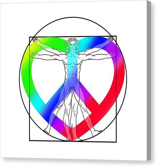 No People Canvas Print - Peace, Love And Hope To Mankind by Az Jackson