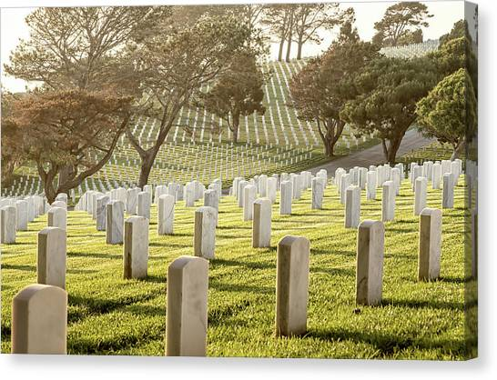 Fort Rosecrans National Cemetery Canvas Print - Peace And Memory by Joseph S Giacalone