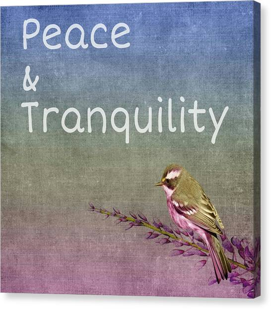 Peace And Tranquility  Canvas Print