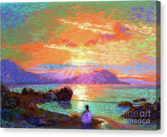 Greek Canvas Print - Peace Be Still Meditation by Jane Small