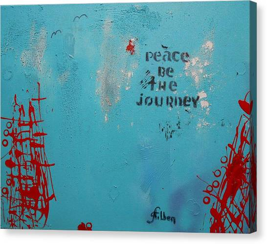Peace Be The Journey Canvas Print