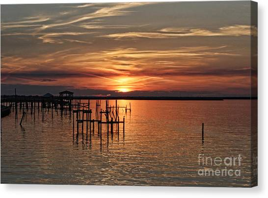 Peace Be With You Sunset Canvas Print