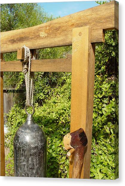 Peace Bell 2nd Image   Sold Canvas Print by Steve Mudge