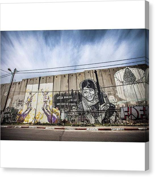 Palestinian Canvas Print - Peace Cant Be Kept By Force,but I by Photo By Kei