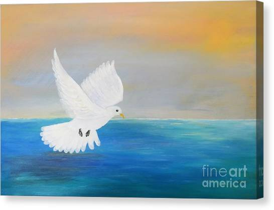 Peace Descending Canvas Print
