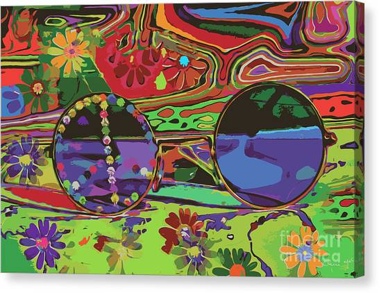 Canvas Print featuring the digital art Peace Art by Eleni Mac Synodinos
