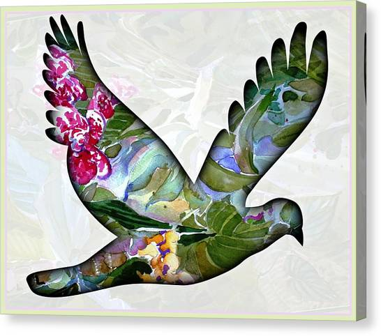 Dove Canvas Print - Peace For Peace by Mindy Newman