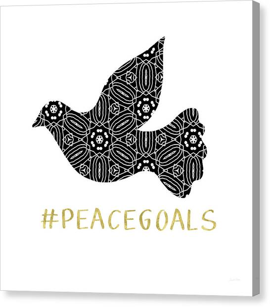 Dove Canvas Print - Peace Goals- Art By Linda Woods by Linda Woods