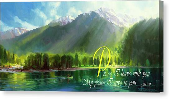 Bible Verses Canvas Print - Peace I Give You by Steve Henderson