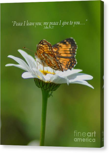Peace I Leave You Canvas Print