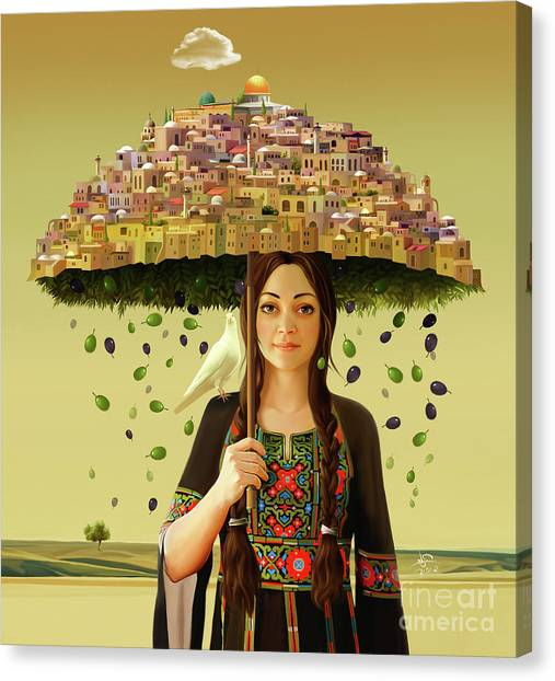 Palestinian Canvas Print - Peace In The Land Of Peace by Imad Abu shtayyah