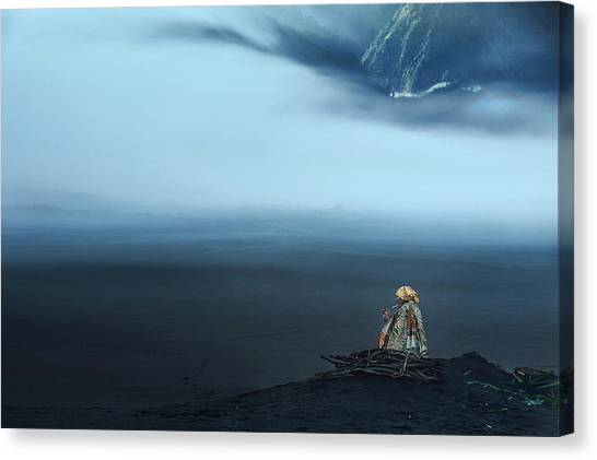 Mood Canvas Print - Peace In Silence by Dodyherawan