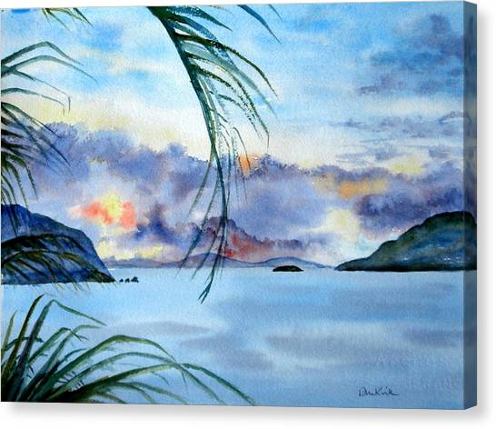 Peace In The Caribbean Canvas Print
