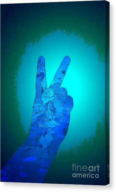 Peace In The Headlight Canvas Print by Sean-Michael Gettys