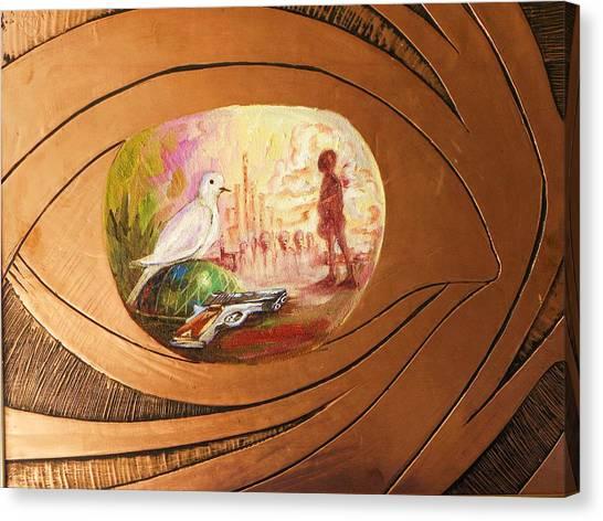 Peace Canvas Print by Nduka f Onyia