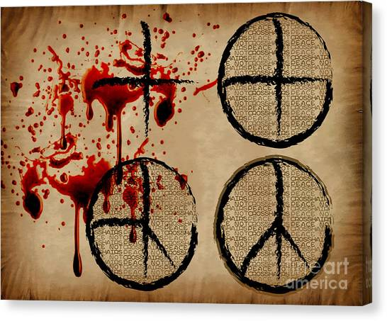 Sarah Palin Canvas Print - Peace Not Crosshairs by Laura Brightwood