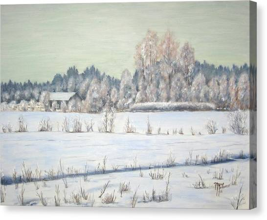 Peace Of The Winter Canvas Print by Maren Jeskanen