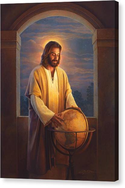 Window Canvas Print - Peace On Earth by Greg Olsen