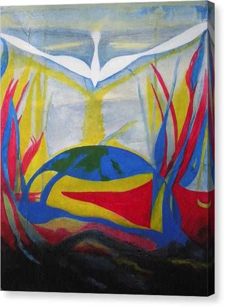 Peace Rising From Chaos Canvas Print by CB Woodling