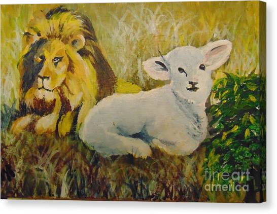 Canvas Print featuring the painting Peace by Saundra Johnson