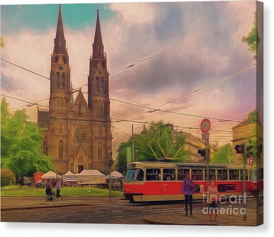 Peace Square Prague Canvas Print