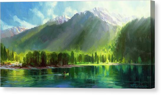 Canoe Canvas Print - Peace by Steve Henderson