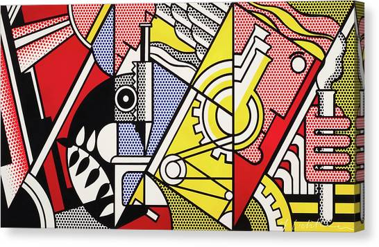 Peace Through Chemistry I - Roy Lichtenstein Canvas Print