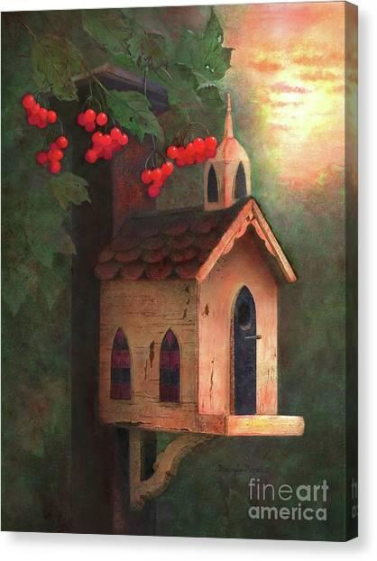 Church Yard Canvas Print - Peaceful Autumn by Nancy Lee Moran