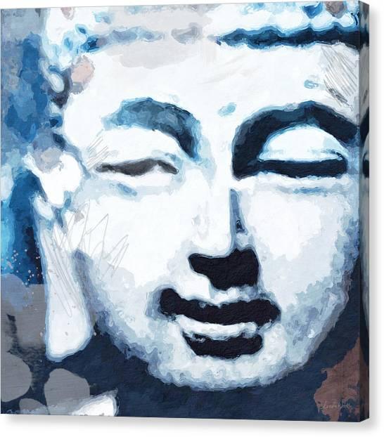 Meditate Canvas Print - Peaceful Buddha 2- Art By Linda Woods by Linda Woods