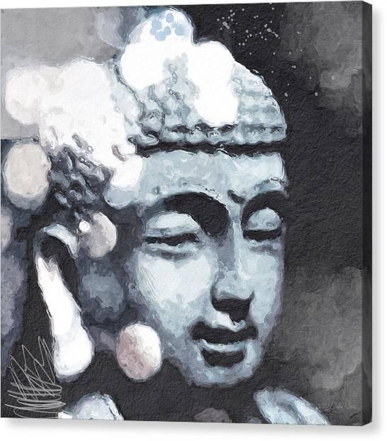 Meditate Canvas Print - Peaceful Buddha 3- Art By Linda Woods by Linda Woods
