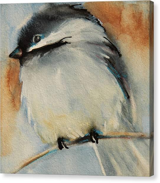 Peaceful Chickadee Canvas Print