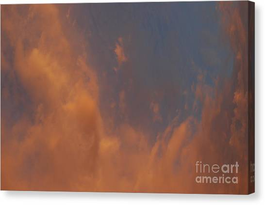 Peaceful  Dance In The Sand Storm Canvas Print by Sean-Michael Gettys