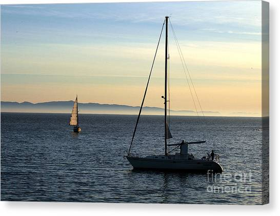 Peaceful Day In Santa Barbara Canvas Print